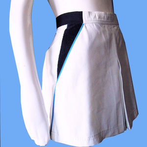 "Vintage BOGNER 1970s Tennis Skirt 24"" High Waist"